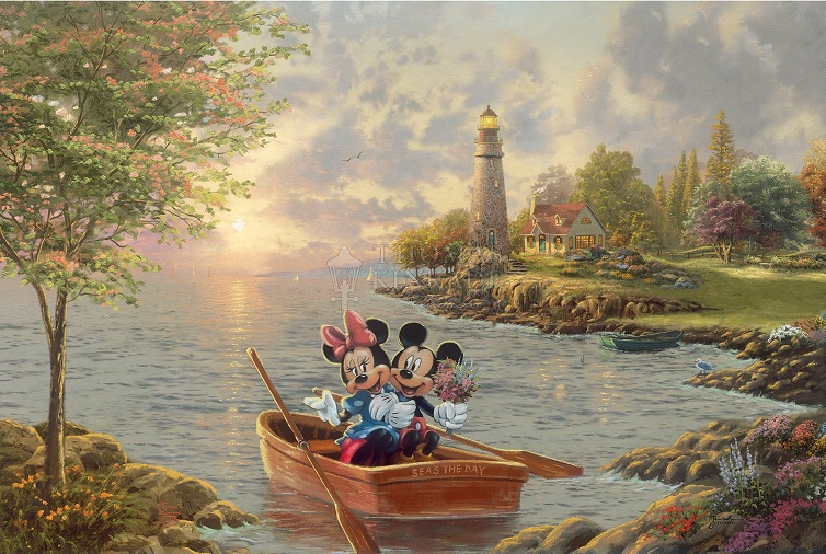 Mickey & Minnie Lighthouse Cove Art Choices