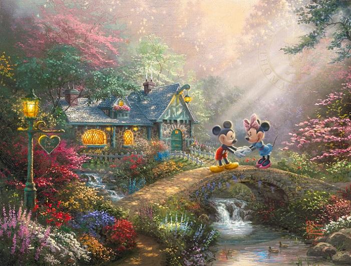 Mickey & Minnie Sweetheart Bridge Art Choices