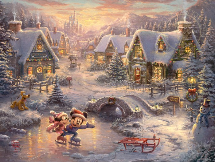 Mickey and Minnie Sweetheart Holiday Art Choices