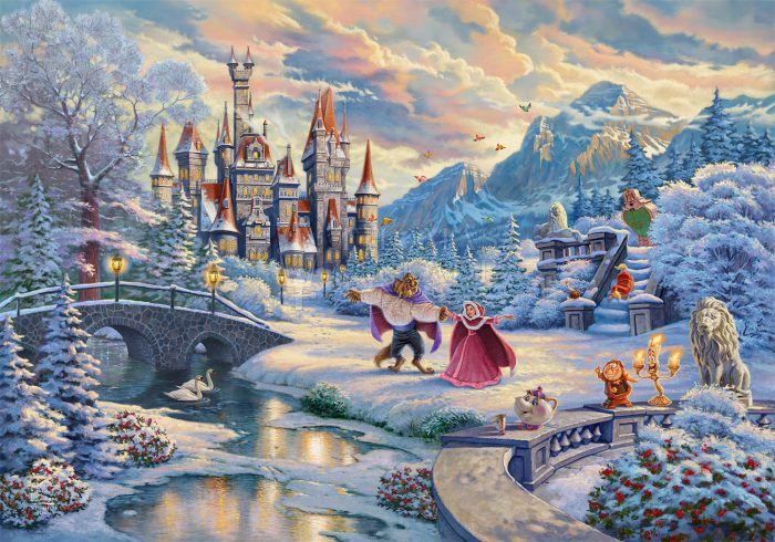 Beauty and the Beast's Winter Enchantment Art Choices