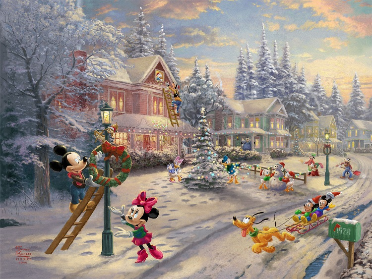Mickey's Victorian Christmas Art Choices