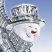Sledding Snowman Face
