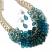 Teal Cluster Necklace & Earring Set