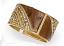 Brown Epoxy & Stone Hinged Bracelet