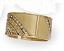Tan Epoxy & Stone Hinged Bracelet