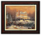 Classic Burl Frame: Victorian Christmas II