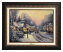 Classic Aged Bronze Frame: Village Christmas