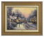 Classic Antique Gold Frame: Village Christmas