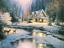 Deer Creek Cottage by Thomas Kinkade