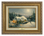 Classic Antique Gold Frame: Silent Night