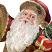 Face Closeup: Deck the Halls Santa