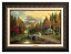 Classic Aged Bronze Frame: Valley of Peace