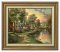 Classic Antique Gold Frame: Hometown Lake