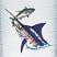 Guy Harvey Marlin Emblem