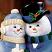 Snow Couples Faces Closeup