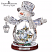 Thomas Kinkade White Christmas Crystal Snowman
