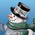 Snowman's Face Closeup