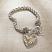 Jim Shore Two Tone Heart Bracelet