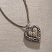 Jim Shore Two Tone Heart Necklace