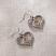 Jim Shore Two Tone Double Heart Earrings