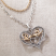 Jim Shore Lovebirds in Heart Necklace