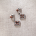 Jim Shore Diamond Quilt Pattern Earrings