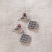 Jim Shore Diamond Quilt Pattern Earrings Back View