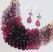 Purple Cluster Necklace & Earring Set