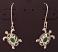 Green Sea Turtle Filigree Sterling Silver Earrings