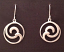 Sterling Silver Double Wave Earrings