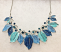 Blue Leaves Necklace