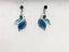 Blue Leaves Earrings