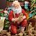 Closeup of Santa and the Nativity