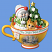 The Night Before Christmas Teacup Ornament