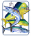 Guy Harvey Bull Dolphin, Wahoo & Kingfish Magnet