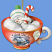 Silent Night Snowman Teacup Ornament