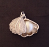 Micropave Clam Shell Sterling Silver Charm