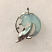 Diving Dolphin Wave Sterling Silver Charm