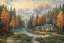 Evening at Autumn Lake Painting