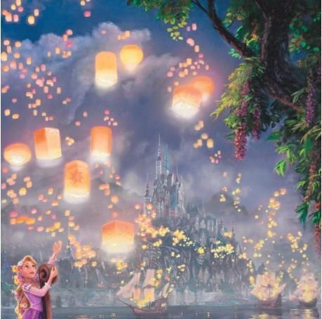 Tangled Painting Thomas Kinkade Studios Disney Collection