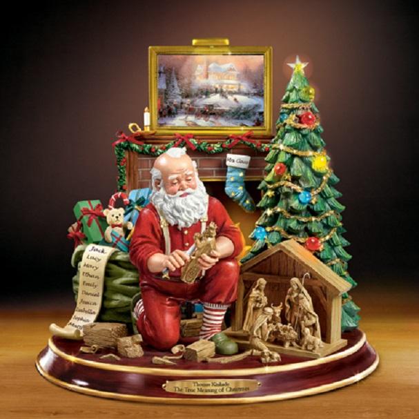 Thomas kinkade the true meaning of christmas santa at