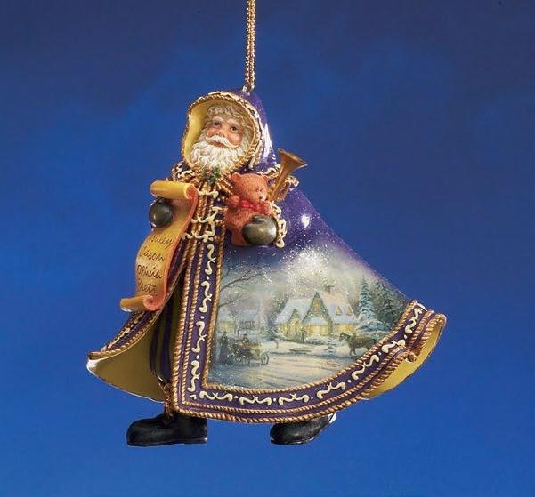 Memories of Christmas Santa Ornament / Thomas Kinkade