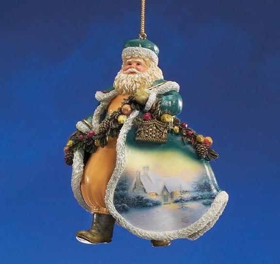 Thomas Kinkade Christmas Tree Cottage Santa Ornament At Ocean Treasures