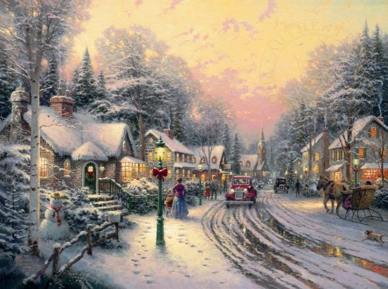 village christmas by thomas kinkade - Christmas Classic