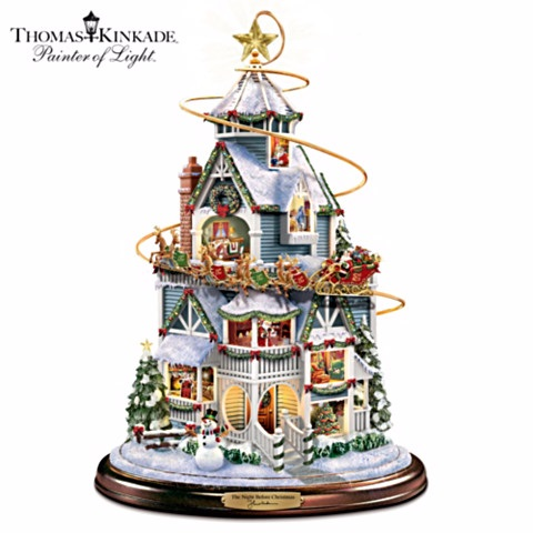 Thomas Kinkade Night Before Christmas Story House