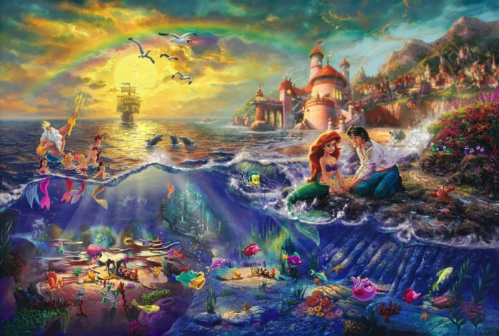 The Little Mermaid Classic Thomas Kinkade Disney Dreams At Ocean