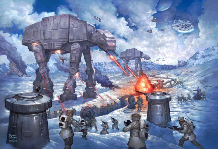 Thomas Kinkade Studios Star Wars Obi-Wan's Final Battle 10 x 14 Wrapped Canvas