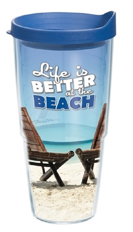 24 Oz Life Is Better At The Beach Tervis Tumbler