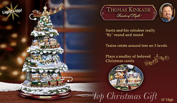 Thomas Kinkade Wonderland Express Tree At Ocean Treasures