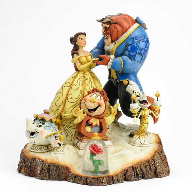 Beauty and the Beast Tale as Old as Time Carved By Heart